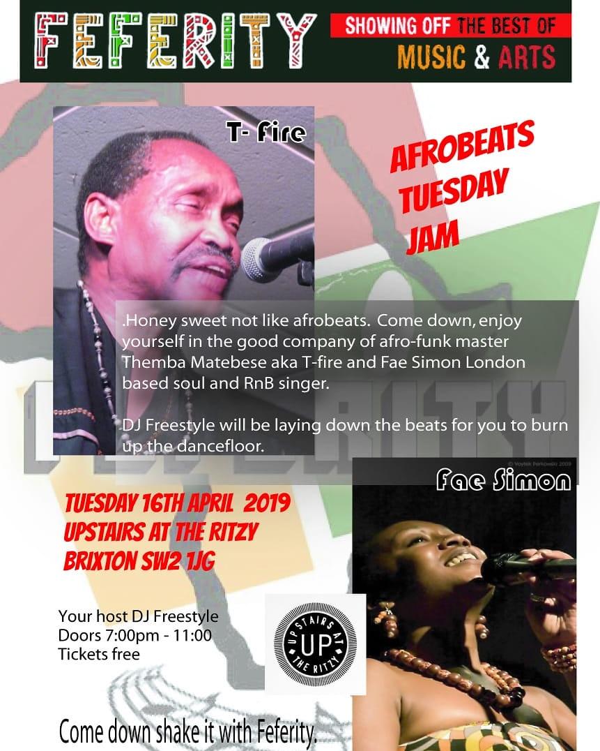 Tuesday Afrobeat Jam - Feferity London
